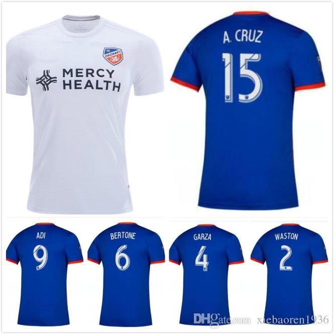 the best attitude 1ebb5 e2b61 free Ship new 2019 2020 MLS FC Cincinnati home Soccer Jerseys Away 19 20  GARZA WASTON BERTONE ADI Football jersey Cincinnati Soccer Shirts