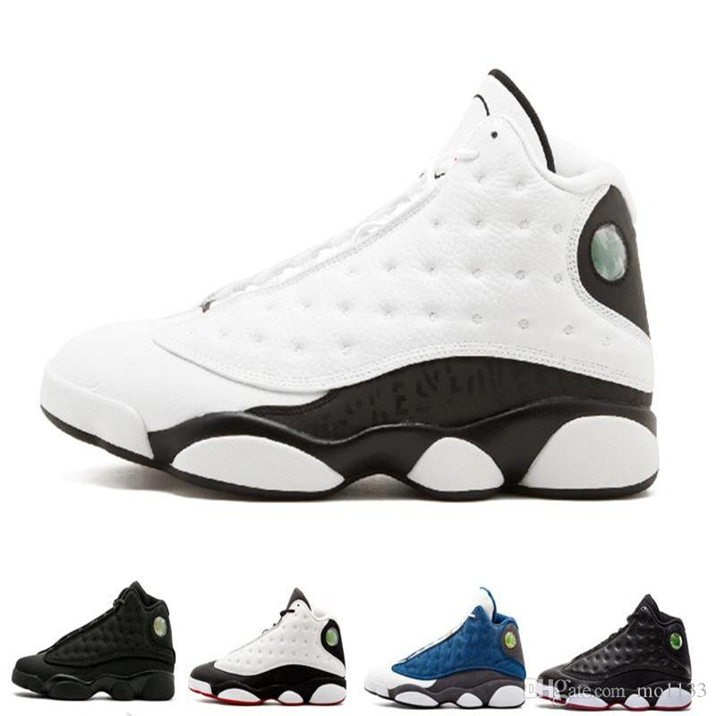 Drop shipping 13 men basketball shoes Altitude black cat Playoffs Hyper Royal Italy Blue bred Chicago 13s He Got Game sports Shoes sneakers