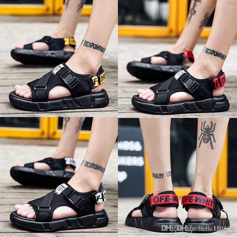 high quality European Brand designer Sandal Summer Casual Shoes non-slip Slippers Outdoor Wading shoes Beach Slippers Hip-hop Street Sandals