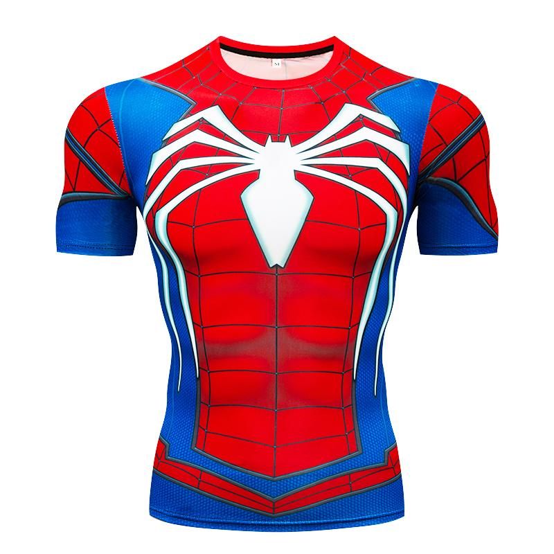 Spiderman 3D t shirts Men Compression Short Sleeve T-shirts Superhero Quick Dry Tops Bodybuilding Fitness Tshirts Crossfit Tees