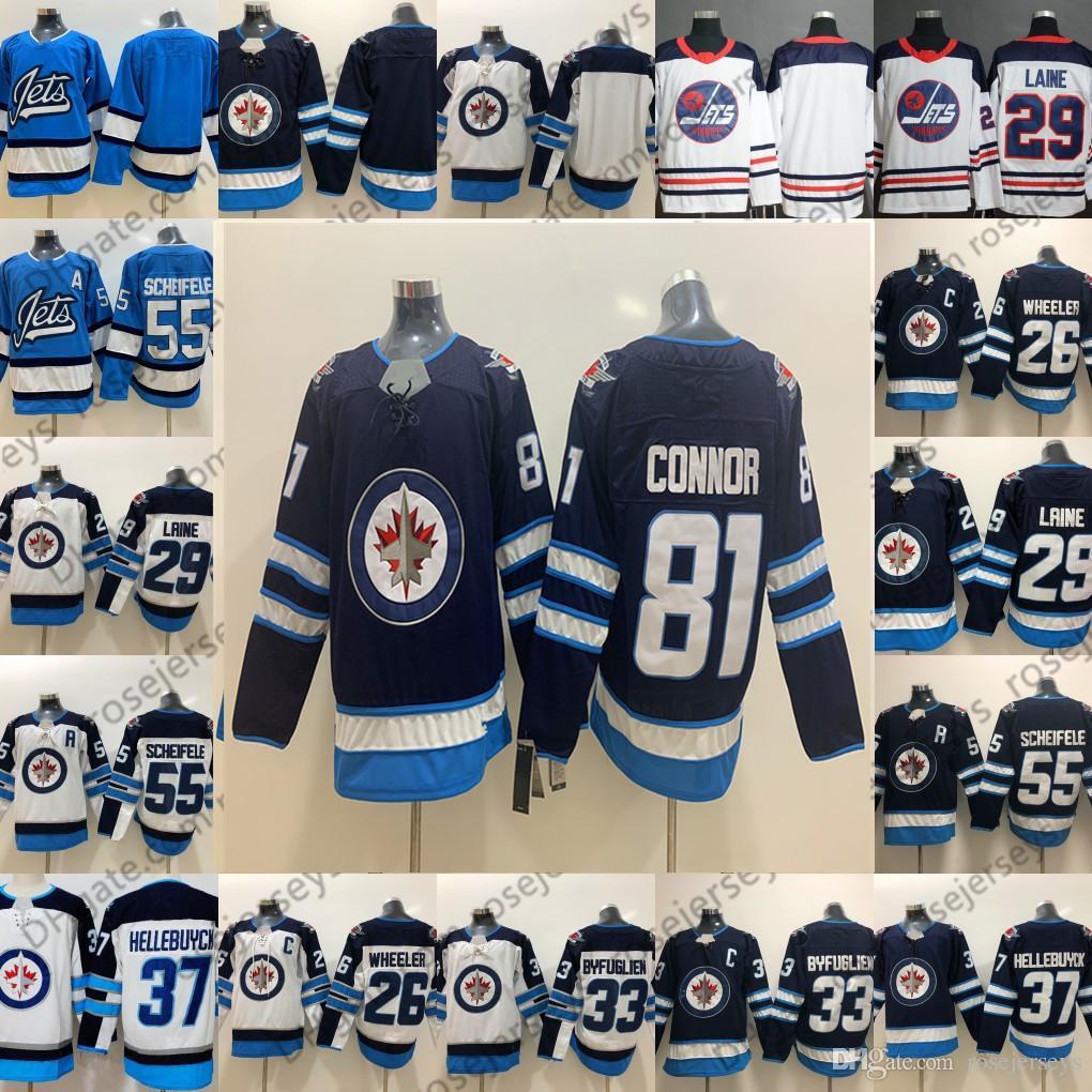591c1546177 2019 2019 Winnipeg Jets Blue Third Jersey White #81 Kyle Connor 37 ...