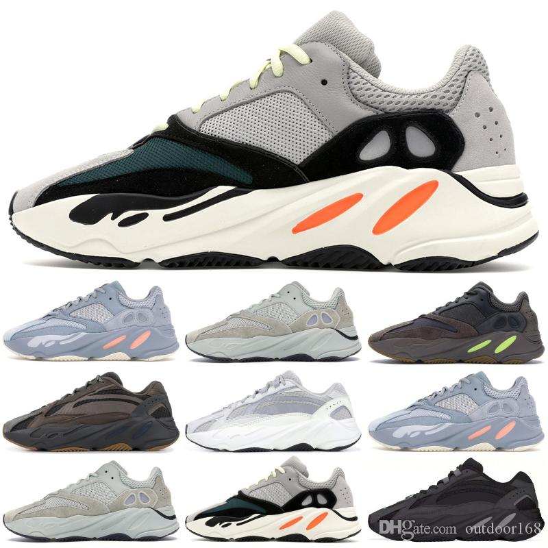 d6f3aeedac4 Corredor de Onda 700 Malé Inertia Tênis Com Caixa de Kanye West Designer de  Sapatos Das Mulheres Dos Homens 700 V2 Seankers Esportes Estáticas Tamanho  36-45