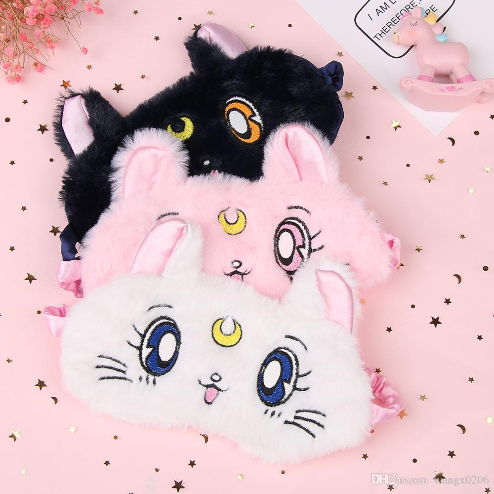 Beauty & Health Sleeping Eye Mask Soft Padded Travel Shade Cover Rest Relax Sleeping Blindfold Cute Cat Eye Cover Fabric Sleep Mask Eyepatch Skin Care Tool