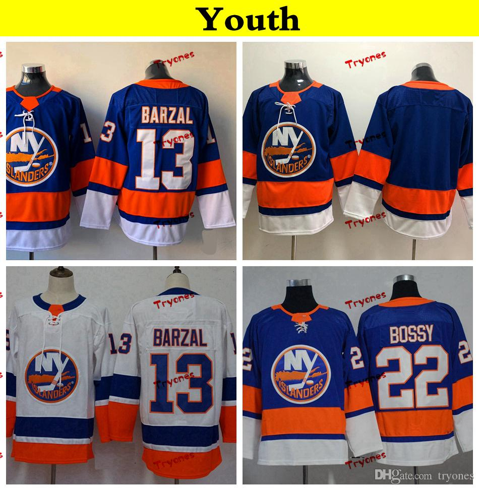 timeless design 45219 8a0e0 Youth New York Islanders 2019 13 Mathew Barzal Hockey Jerseys Kids Womens  Cheap Home Team Blue Stitched Shirts
