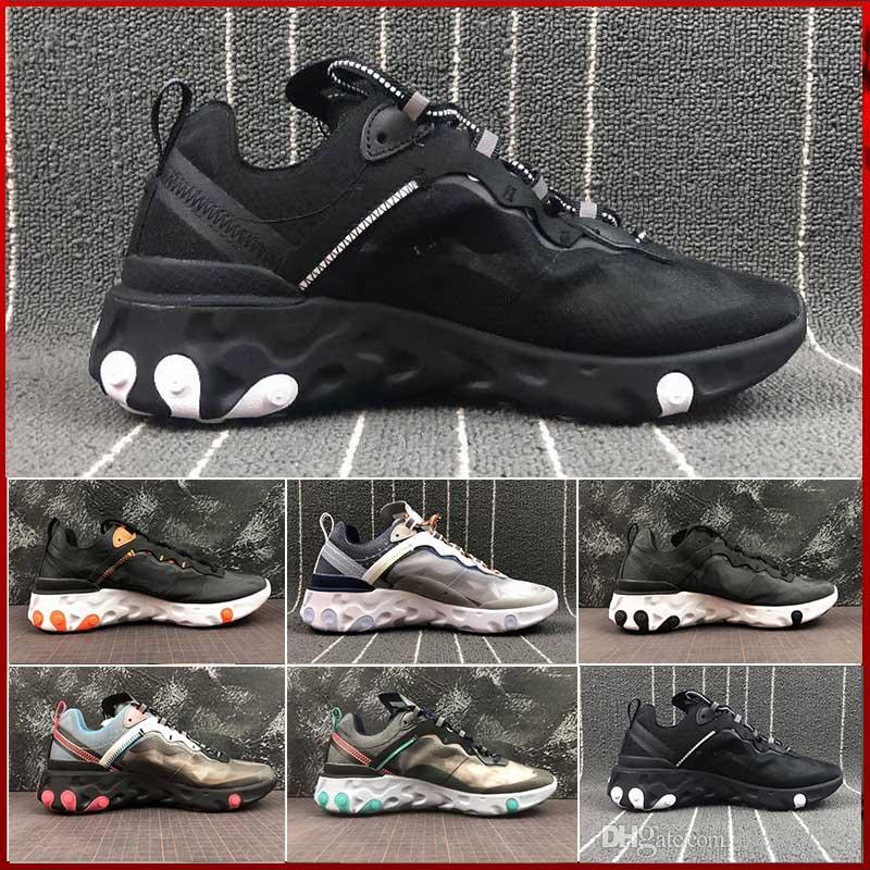 9650ef8a2526 2019 2019 New Epic React Element 87 Undercover Men Running Shoes Sail Light  Bone Blue Chill Solar Anthracite Black Women Designer Sports Sneakers From  ...