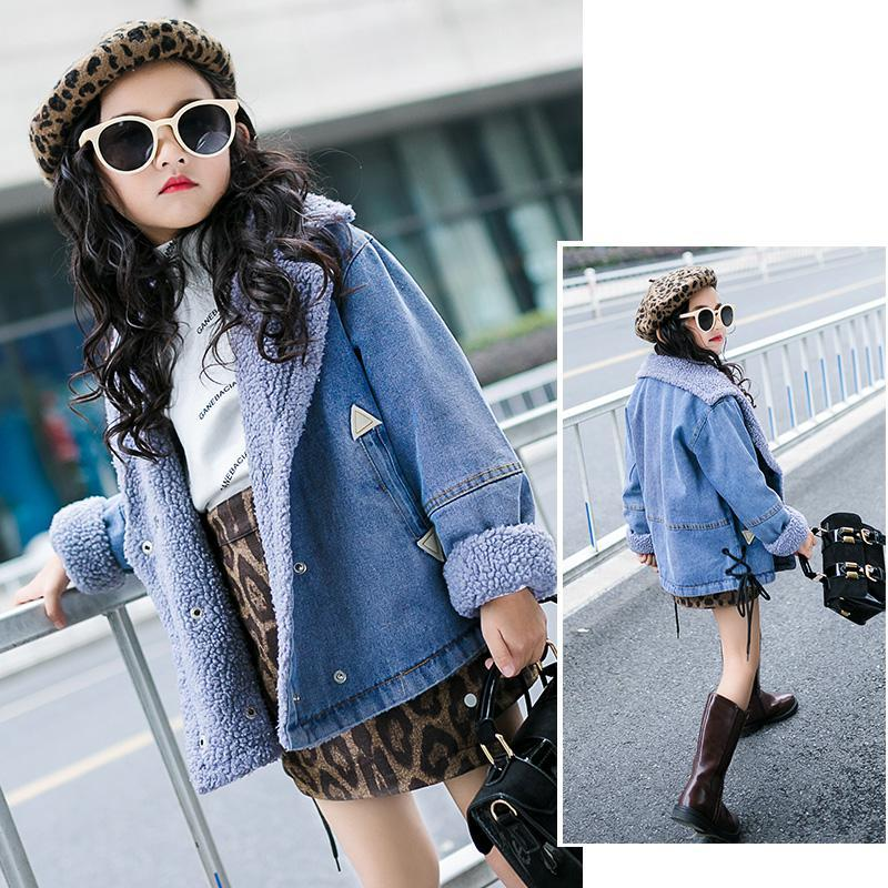 2019 Children Kids Girls Denim Jackets Cotton Denim Outerwear Tops
