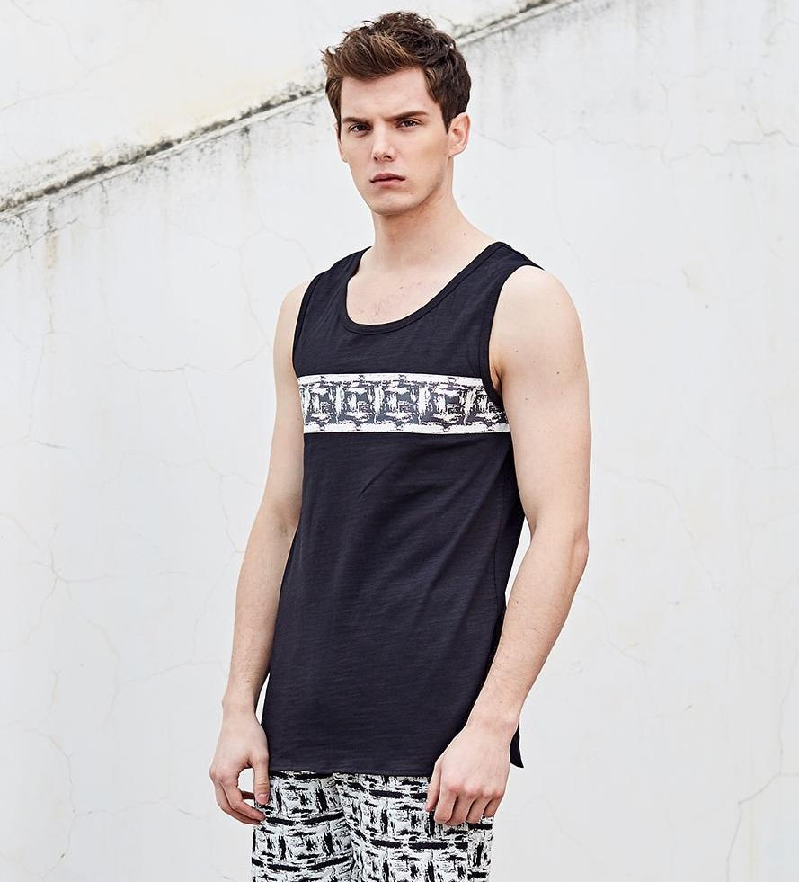 New Summer Men O-Neck Vest Cool Street Style Loose Sleeveless Garment Euro Size Casual Tank Top Jogger Vest