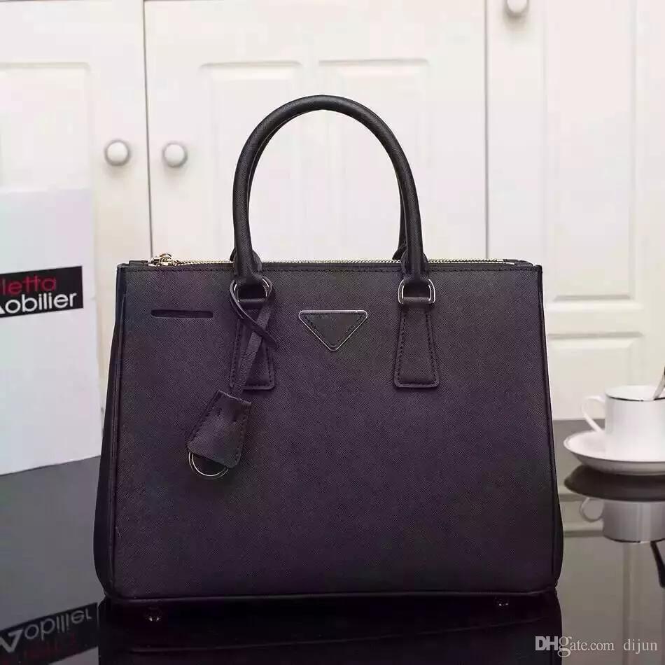 5a956d557be3 2018 Fashion Brand Designer Women Handbag Genuine Leather OL Shoulder Bags  Top Handle Saffiano Bag High Quality Lady Messenger Bag Mens Bags Messenger  Bags ...
