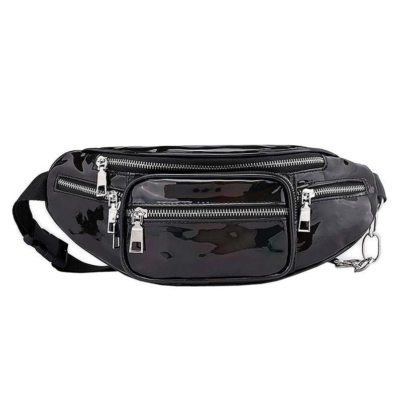 2c42d8000888 Waist Pack Waterproof Holographic Fanny Pack for Women Neon Shiny  Iridescent Bum Bag Adjustable Belt Fashion Waist Packs for P