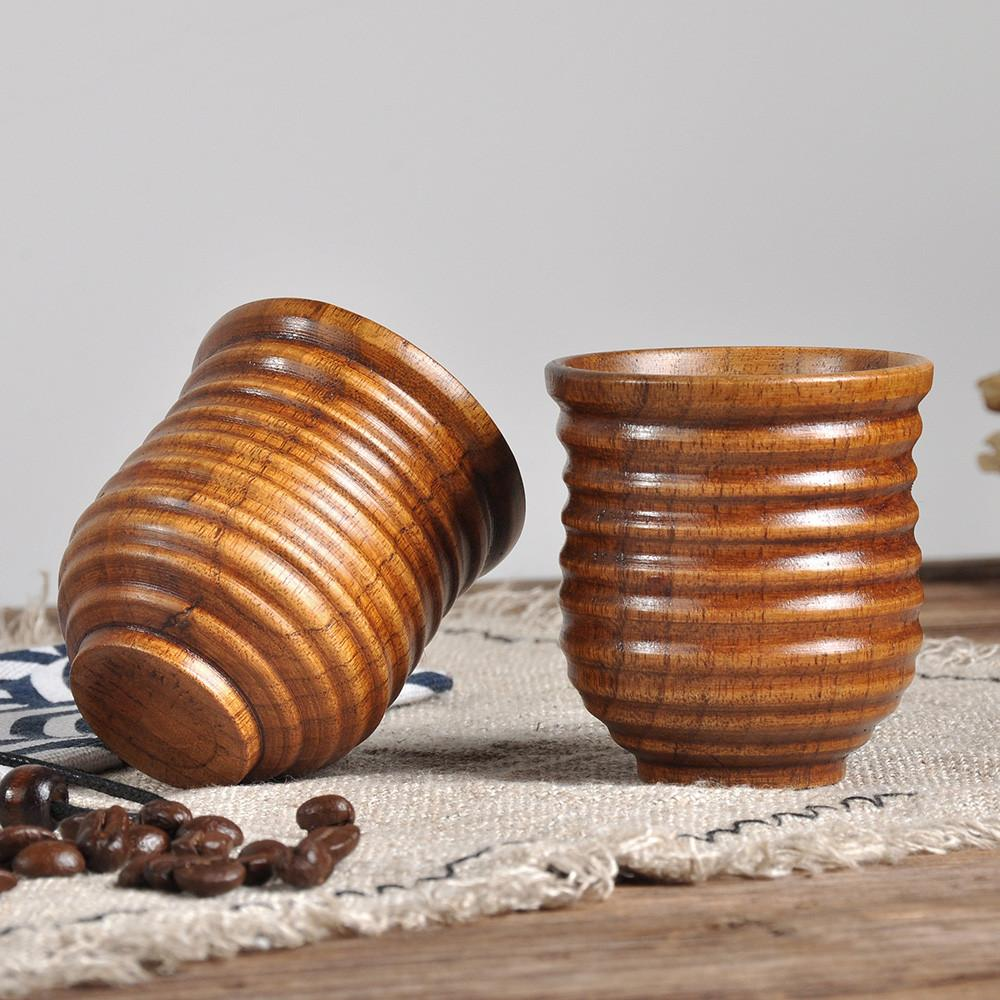 20pcs Wooden Cup Log Color Handmade Natural Wood Coffee Tea Beer Juice Milk Mug Dropshipping