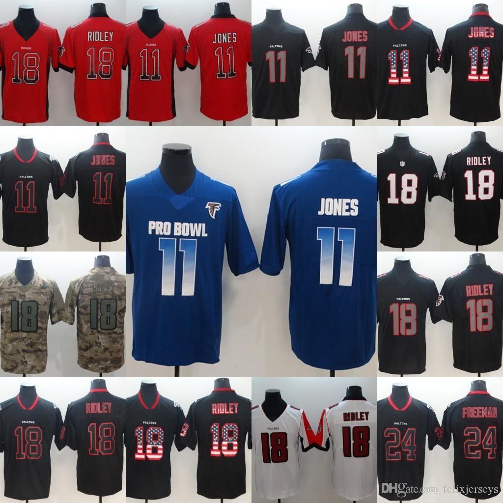 premium selection 59e33 56459 Falcons jersey 11 Julio Jones Blue Camo 2019 Draft 24 Devonta Freeman Black  18 Ridley Red jerseys Free Shipping men Football Jerseys