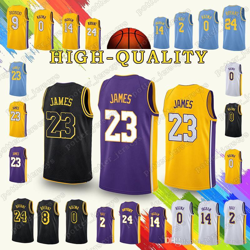 2019 2018 Promotion Los Angeles 23 LeBron James Jerseys Laker Kobe 24  Bryant Kyle 0 Kuzma Lonzo 2 Bal Kobe 8 Bryant Jersey Top From  Potter jerseys 70dc9a8e7