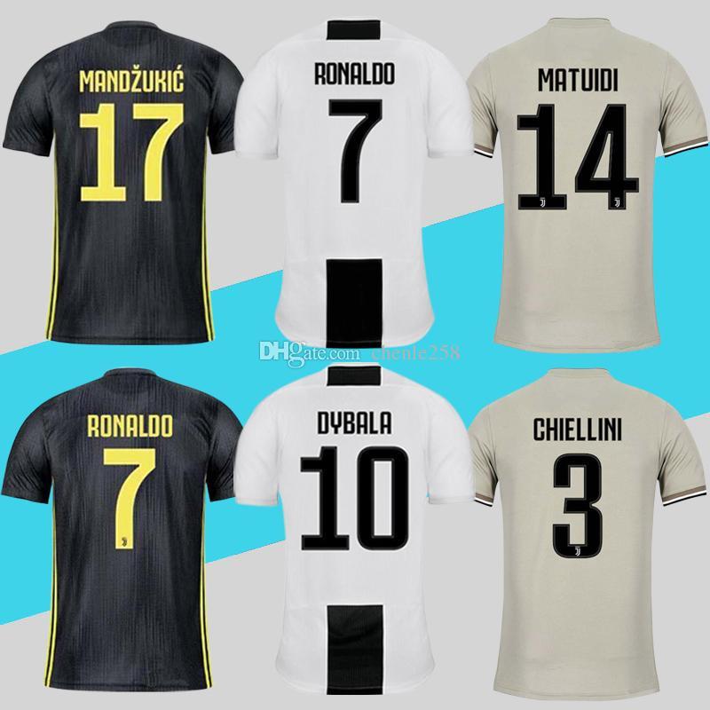 2019 Juventus Jersey Juve Home Away Third Ronaldo Dybala Soccer Shirt 2018  2019 MANDZUKIC Maillot De Foot More Free DHL Shipping From Chenle258 4c99c3db0