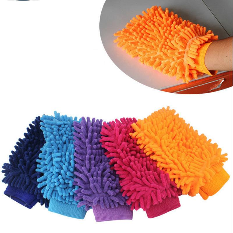 car Kitchen Washing Gloves Car Hand Soft Towel Sponge Towel Cloth home Cleaning Gloves auto clean tools soft towels FFA1398