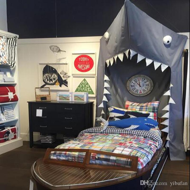 Kids Adults Cartoon Shark Bed Tent Door Hanging Bed Mosquito Net Crib Decoration Nordic Style Personalized