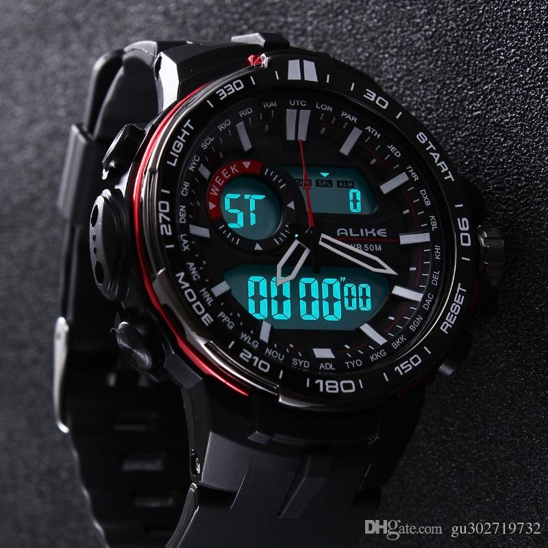 Just 2019 New Top Brand Casual Watch Men G Style Waterproof Sports Military Watches S Shock Mens Luxury Analog Digital Quartz Watch Digital Watches Watches