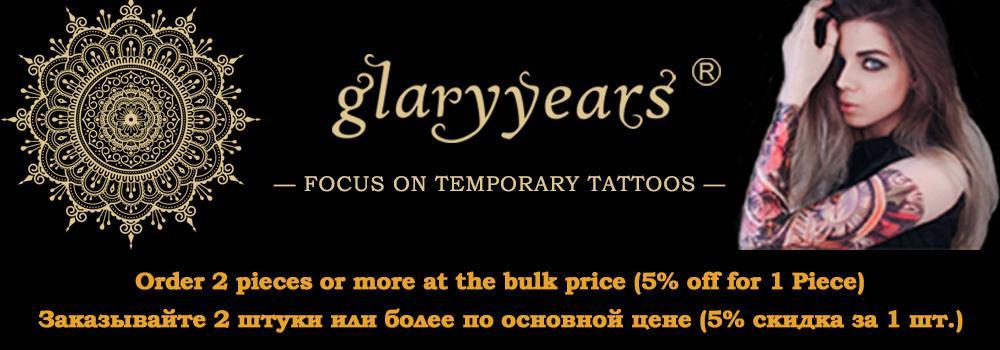 Glaryyears A Bit Big Arm Temporary Tattoo Sticker Flower and Bird Fake Tatoo Sleeve Flash Tatto Waterproof Body Art Women LC-735