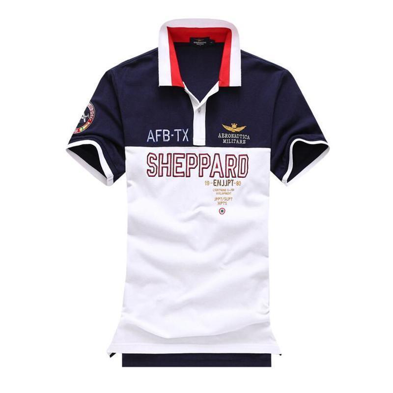 b3e51b1c999 Mens Summer Polo Shirt 2018 Breathable Air Force One Polo Embroidery Lapel Polo  Shirt Fashion Man Aeronautica Militare Polos T Shirt Shop Online Crazy T ...