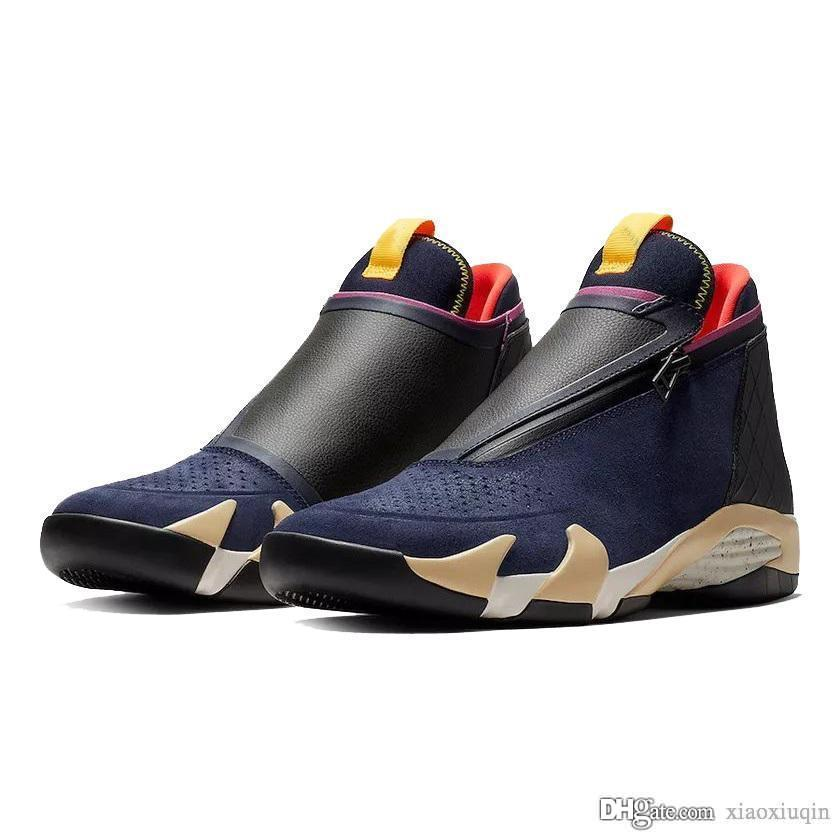 Mens Jumpman Z retro 14s basketball shoes aj14 new 2019 Olive Black Red Blue lebrons 16 high air flights aj 14 sneakers tennis j14 with box