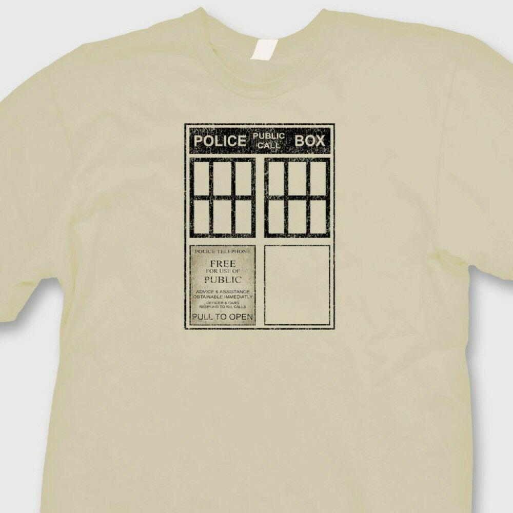 TARDIS Police Box T Shirt BBC S Dr. Who Sci Fi Time Lord Tee ShirtFunny  Unisex Casual Tshirt Top Design Shirts Cool Tshirts From Wildmarkstoree e8d211b956f