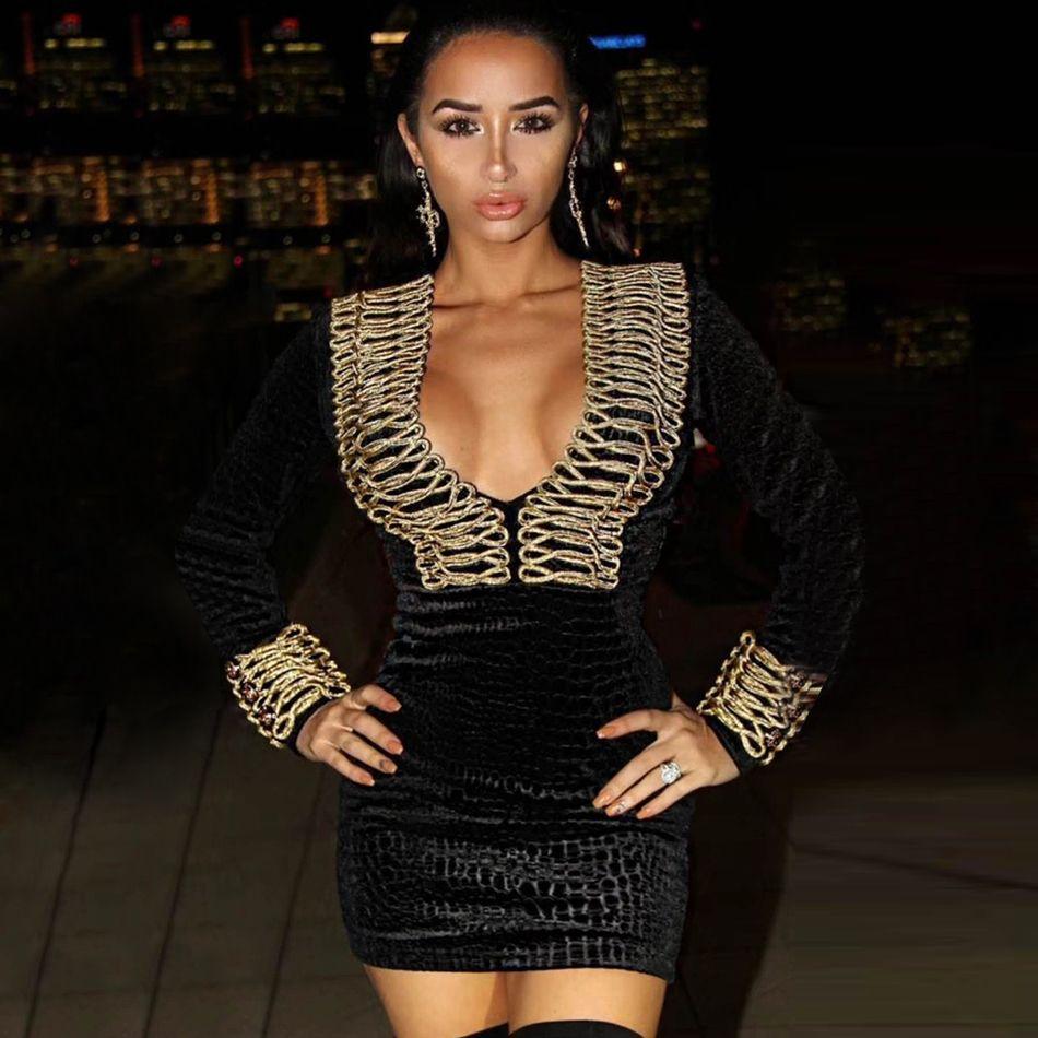 d50bfbf2b5d2 2019 Adyce 2018 New Arrival Women Winter Celebrity Evening Runway Party  Dress Black Color Long Sleeve Mini Luxury Club Dress Vestidos From  Heymonster03, ...