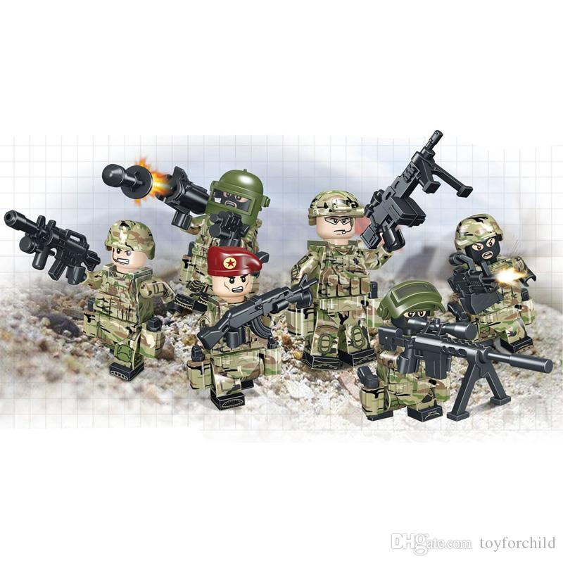 Russian Alpha Force Army Building Block Brick Military Mini Toy Figure Solider Set Armed Troop Toy For Boy Children