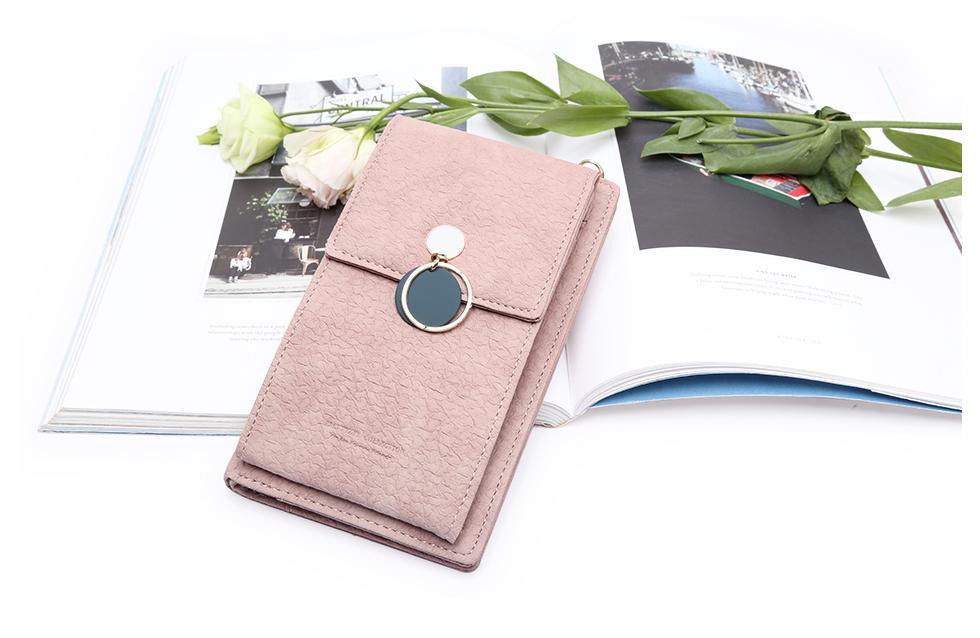 أحدث النساء جلد الكتف المحفظة حقيبة الهاتف حالة الإناث متعددة الوظائف عملة تغيير جواز السفر المحفظة بطاقة حامل الفاصل للبنات