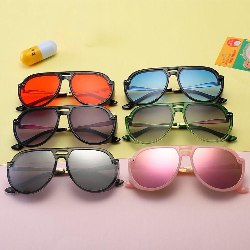 b2b3b423d5 2019 Kid Sunglass Aviator Sungalesses Baby Girls Boys Sun Glasses Beach  Supplies UV400 Protective Eyewear PC+Metal Frame Q48 From Xunyangtrade01