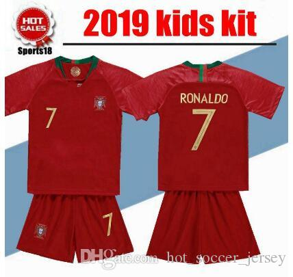 new arrival 25fa9 f7fd4 2019 Kids kit Soccer Jersey youth boy Child 9 EDER 10 J.MARIO 3 PEPE 8  J.MOUTINHO home away Jersey cr7
