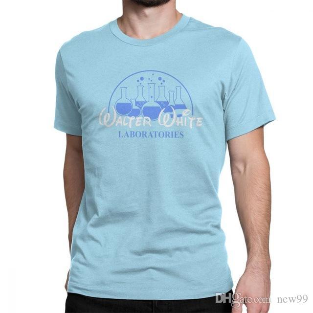 dee63368b 2019 Men S Designer Clothing Tshirt Men Walter White Laboratories T Shirt  Pinkman AMC Heisenberg T Shirts Crew Neck Short Sleeved Shoes Neck T Shirts  T ...