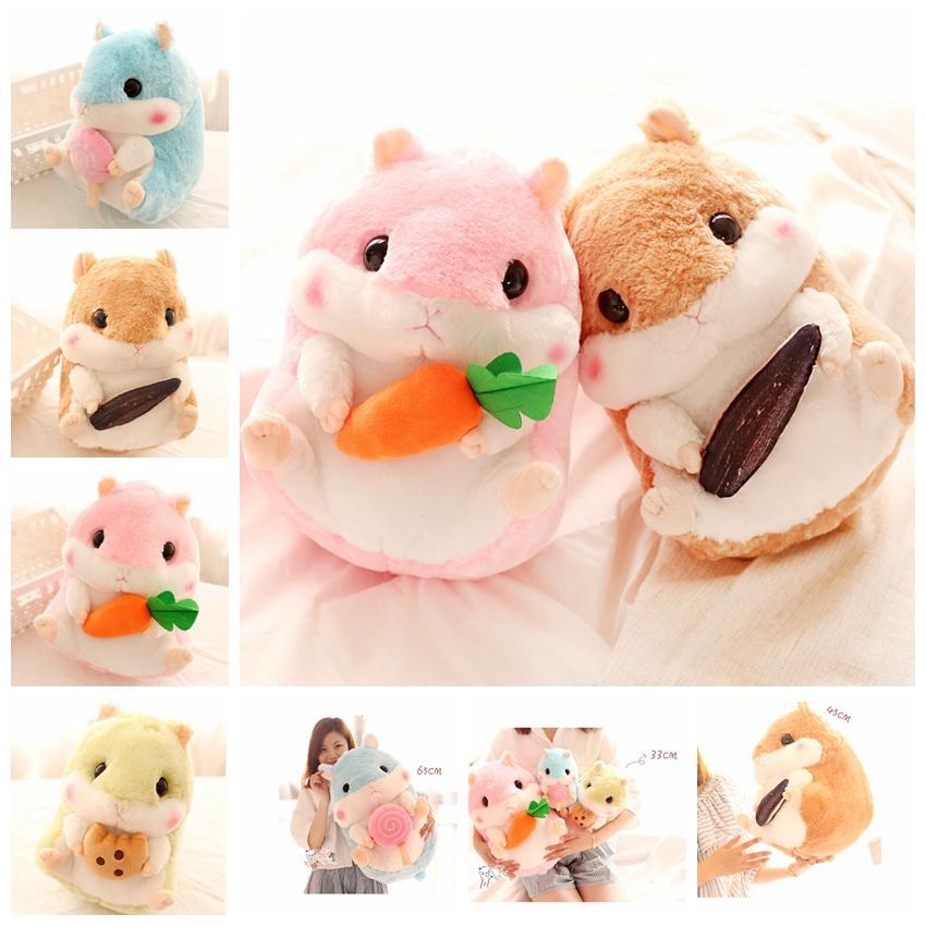 Hamster Plush Toy 32cm 22cm Stuffed Animal Gerbil Plush Toy Cute Pet  Hamster Boy Girl Gift Doll GGA1380