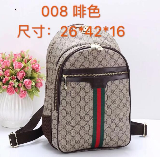3f729b86a35 2019 GUCCI Men'S Women'Sleather Shoulder Bag Men'S Large Capacity Backpack  Travel Bag Fashion Leisure Schoolbag Handbag A11729 Tool Backpack Best  Laptop ...