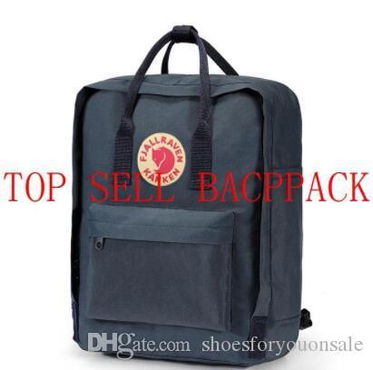 Estilo Design Atacado clássico Backpack Kanken Moda Bag lona impermeável Fjallraven Kanken Waterproof Backpack Computer Bran On Sale