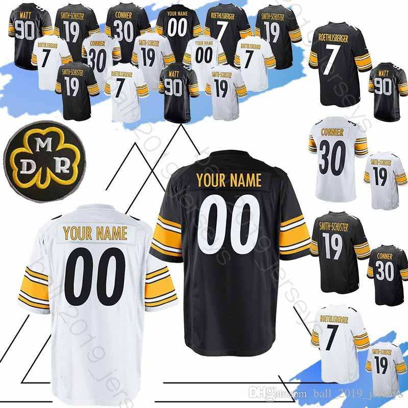 brand new 342c0 48e1c 84 Antonio Brown jersey Pittsburgh Custom Steeler jerseys 23 Joe Haden 83  Heath Miller 97 Cameron Heyward 75 Joe Greene 81 Jesse James