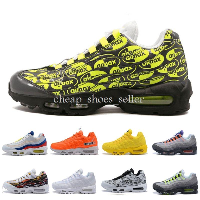 huge selection of 40b0d 33383 Nike Air Max 95 Zapatos 2019 Para Hombre Zapatillas De Running Para Mujer  Maxes Essential PRM Premium 95 OG Blanco Negro Oro Rojo Cojín De Aire  Deportes ...