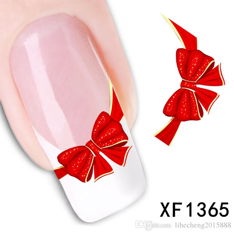 Nail Art 1 PC Decals Sticker Butterfly Tie Design Water Transfer Art Decoration Sticker for Beauty Nail Sticker