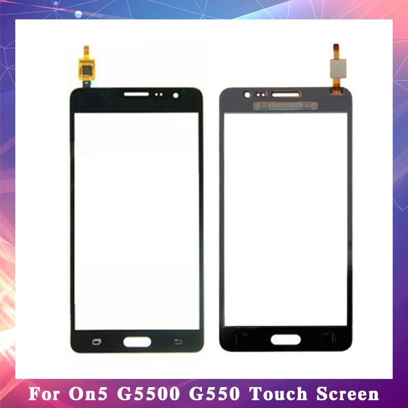 "10Pcs/lot For Samsung Galaxy On5 G5500 G550 5"" and On7 G6000 SM-G6000 5.5"" Touch Screen Digitizer Sensor Outer Glass Lens Panel"