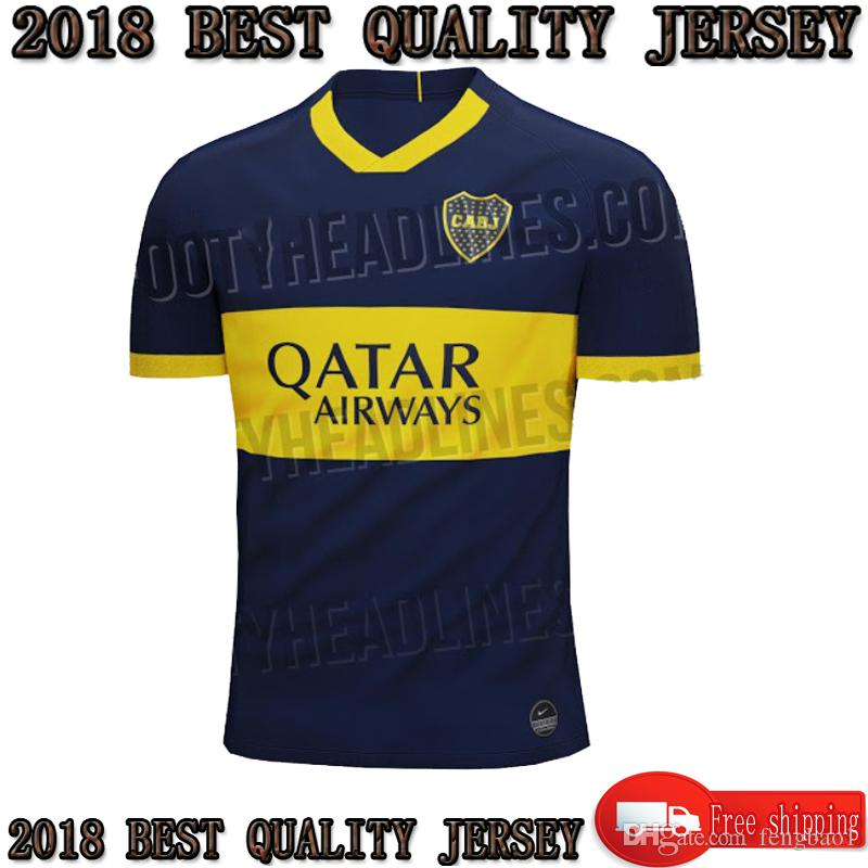 8f6a384441f 2019 TOP 2019 2020 Boca Juniors Soccer Jersey Home Blue 19 20 Boca Juniors  Cristian Pavon Benedetto Barrios Edwin Football Shirts From Fengbao1, ...