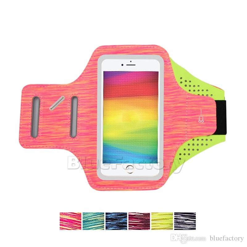 Lycra Sports Running Armband 4.7 5.5 inch Bag Cycling GYM Adjustable Wrist Pouch Outdoor Phone Holder Ultra-Thin Cover for iPhone Universal