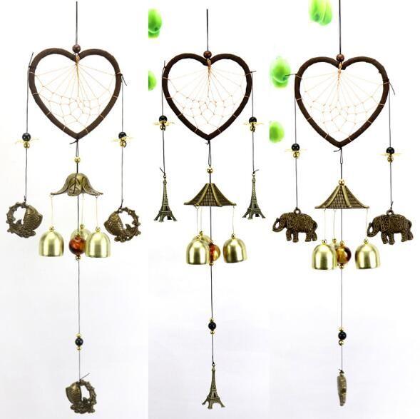 Legierung Bronze Windspielhaus Dekoration Feng Shui Bose Haustur Anhanger Kreative Klassische Hause Anhanger Neuheit