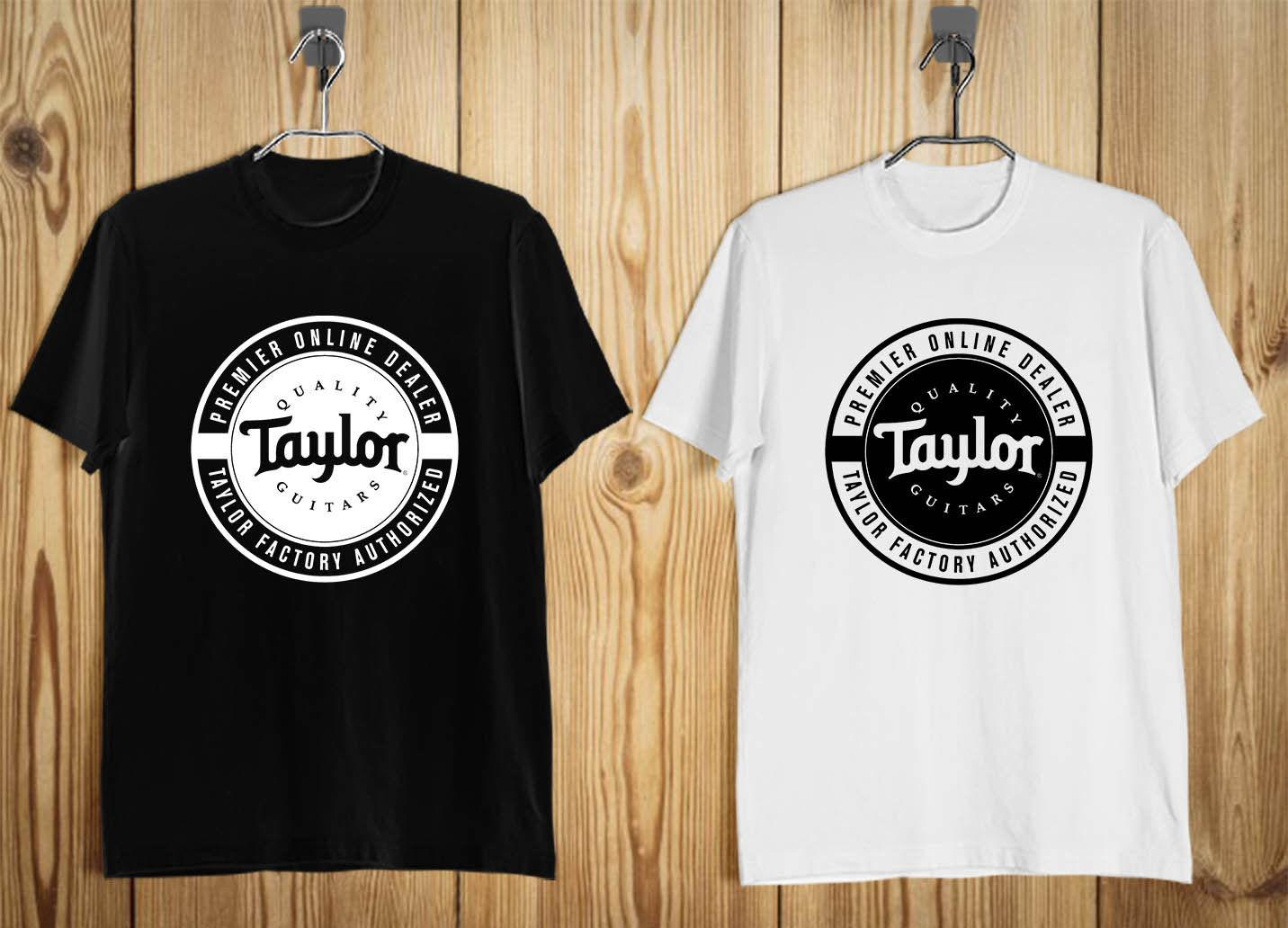 Taylor Guitar Logo Men s T-Shirt Black White S-2XLFunny free shipping  Unisex Casual Tshirt top