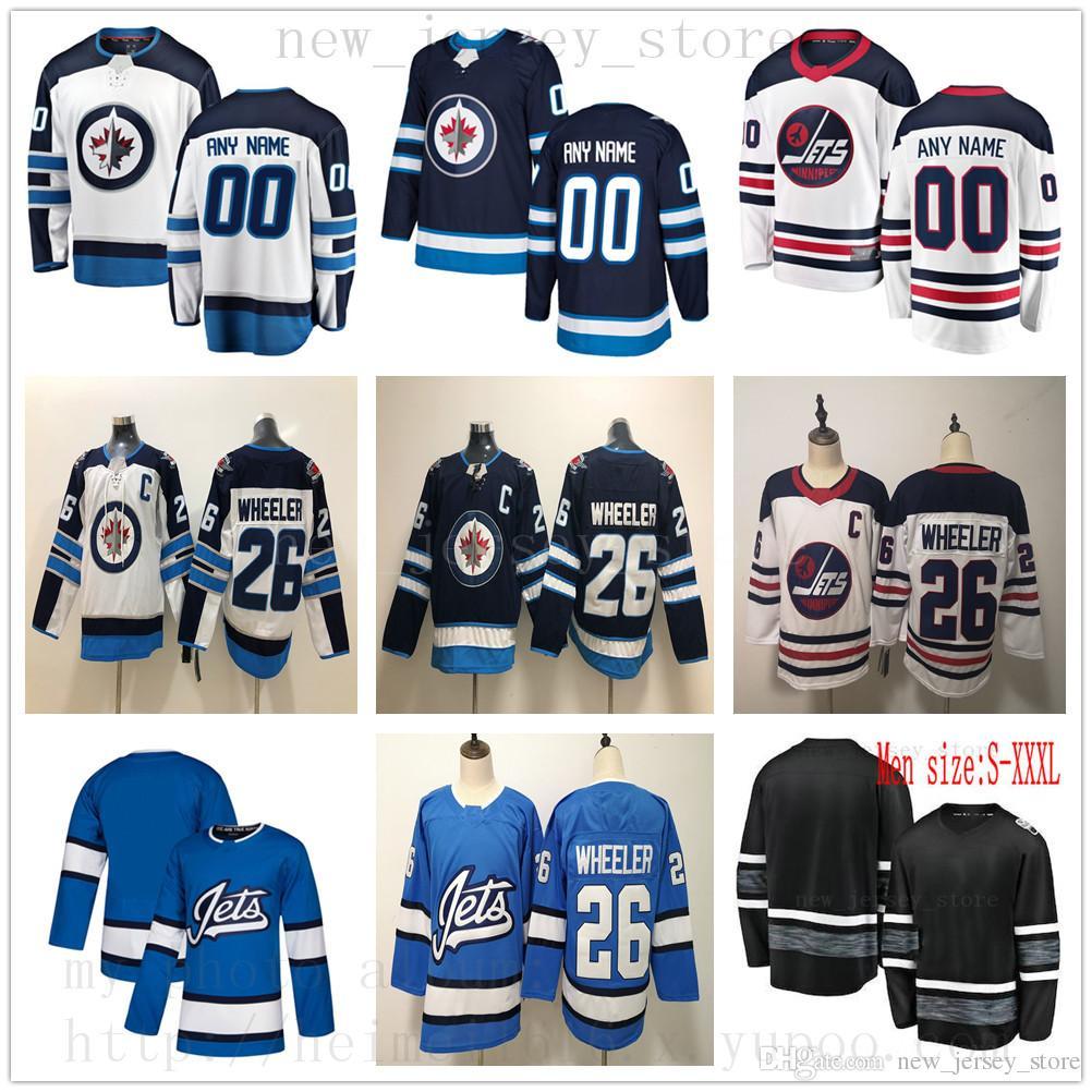 3a3fc60fb86 2019 Custom Kids Winnipeg Jets Hockey Jersey Blue White 26 Blake Wheeler 29 Patrik  Laine 33 Dustin Byfuglien 55 Mark Scheifele Mens Women Youth From ...