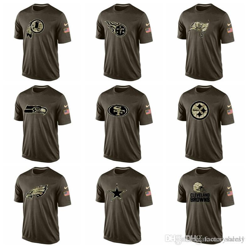 the latest fb7fb d2c91 NEW 2019 Eagles Steelers 49ers Seahawks Titans Redskins Men t shirts Salute  To Service Dri-FITT-Shirt