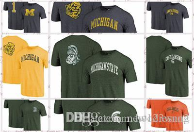 1328677ccd8 Fanatics Branded Michigan State Spartans Michigan Wolverines Miami  Hurricanes Heathered Orange Hometown Arched City T-Shirt