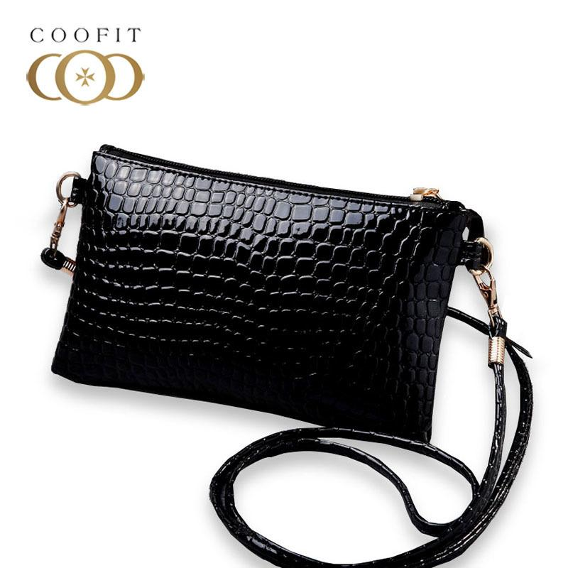 Designer Coofit Female Casual Mini Messenger Bag PU Leather Crocodile  Pattern Crossbody Shoulder Bag Coin Purse Clutch Purse And Handbags Handbag  Sale Side ... 43afbbf9aa7b
