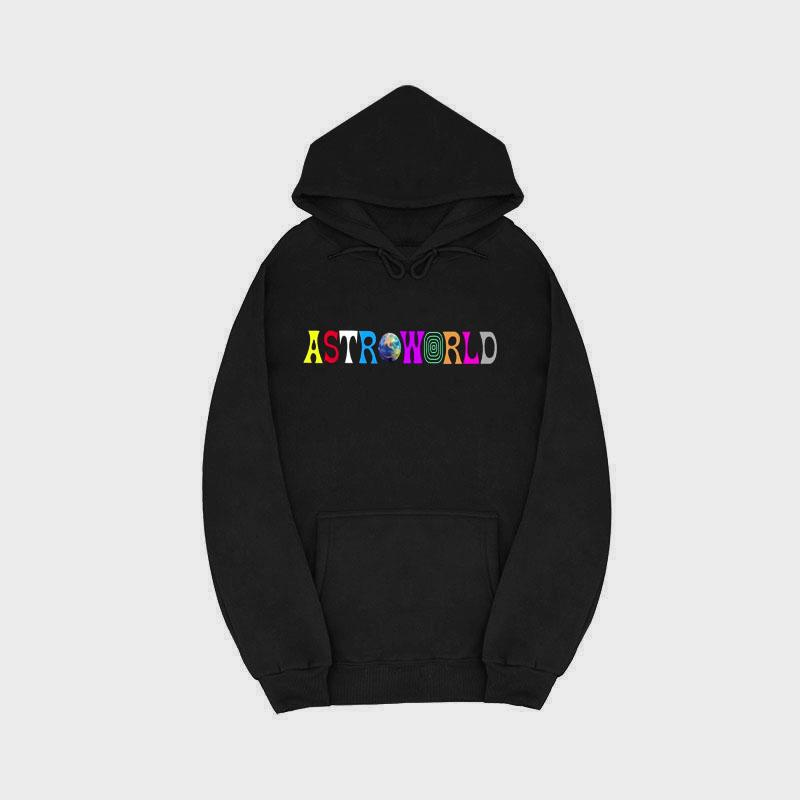 New printing ASTROWORLD100% cotton plus velvet hooded men and women hip hop street sweatshirt men's large size S-2XL