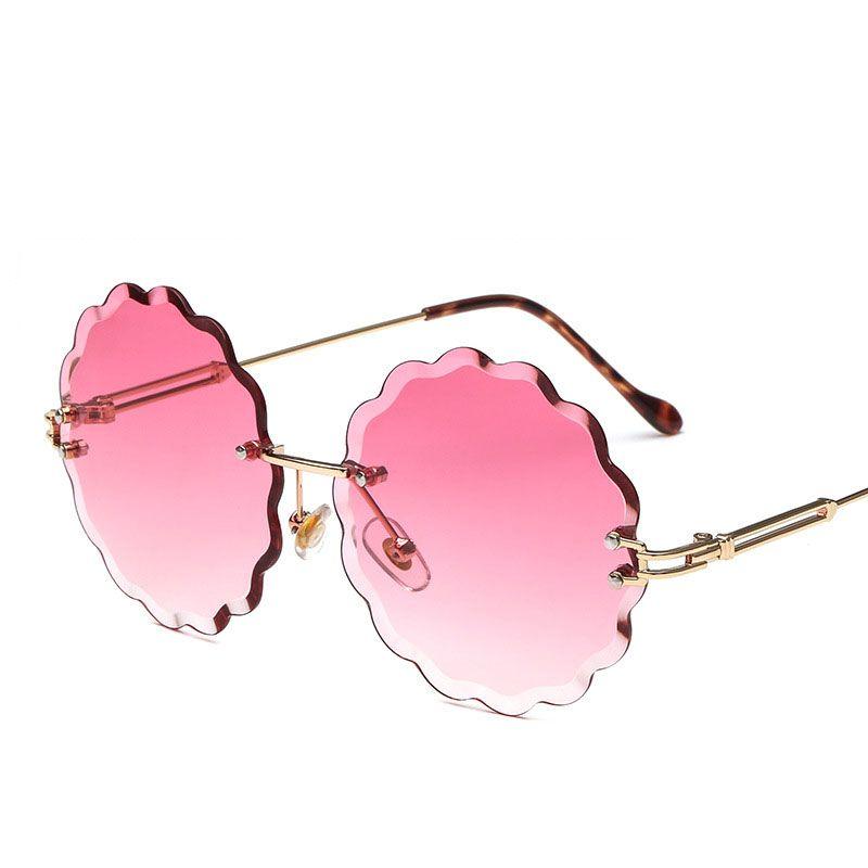 1e22bedb59a2 New Plum Flowers Frameless Sunglasses Women Elegant UV400 Alloy Frame  Personalized Decoration Fashion Sunglasses Marine Color Sun Glasses Baby  Sunglasses ...