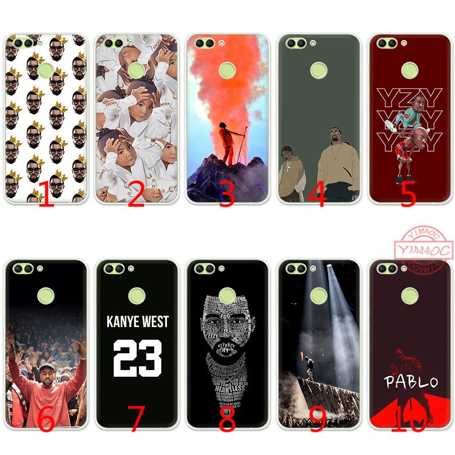 Kanye West Singer Hip pop Soft Silicone TPU Case for Huawei Honor 7A 2GB  Pro 7C 7X 8 9 10 Lite Cover