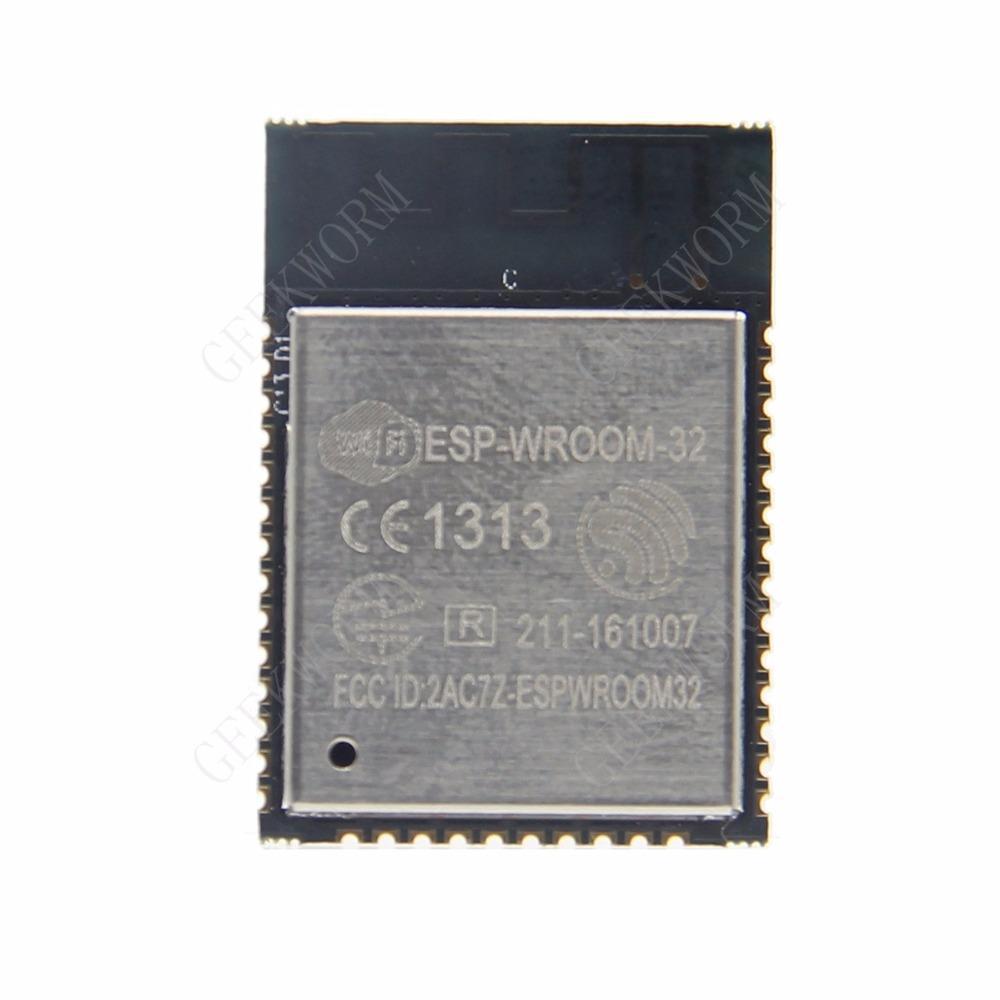 Freeshipping ESP32 ESP-WROOM-32 WiFi + Bluetooth Low Power Consumption MCU  Dual Core CPU ESP-32 Module ESP 32 Components