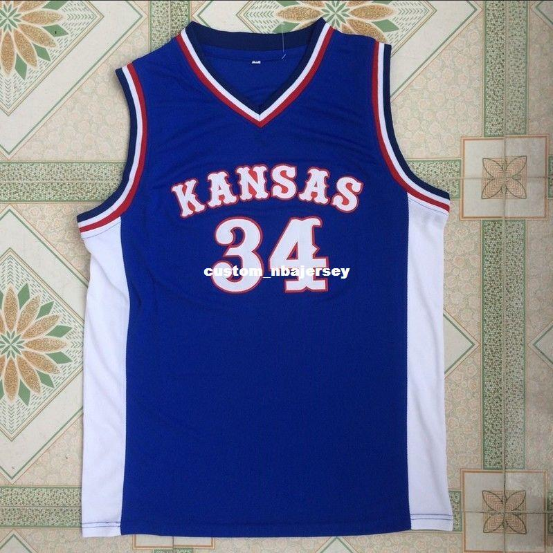 f63de94845e 2019 Cheap Custom Paul Pierce #34 Kansas College Swingman Basketball Jersey  Blue Stitched Customize Any Number Name MEN WOMEN YOUTH XS 5XL From ...